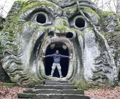 parco dei mostri bosque de los monstruos roma bomarzo lugares extraños