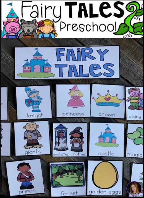 Are you looking for fun centers and activities that you can use with your fairy tale themed unit that revolves around your favorite fairy tales? Then, you will love Fairy Tales Themed Unit for Preschool. This unit will not only help children learn new vocabulary, it will also help them learn and build important concepts and skills like common themes of fairy tales, name identification, number identification, increased story comprehension, literacy and math concepts, fine motor skills and the ability to follow multiple step directions.