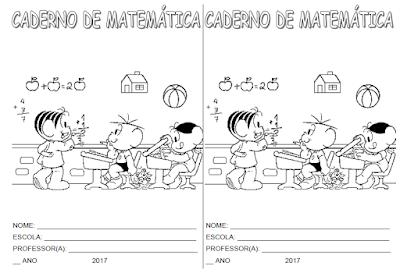 Capa de caderno de Matemática