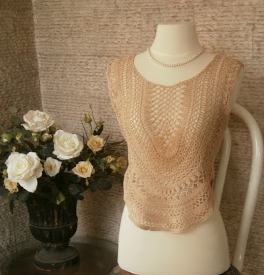 crochet top by mimi