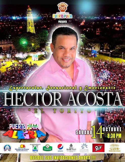 Puerto Plata espera con desbordante entusiasmo a Héctor Acosta