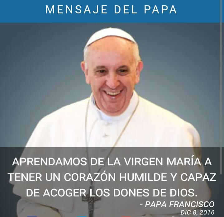 Resultado de imagen de frases del papa a la virgen maria