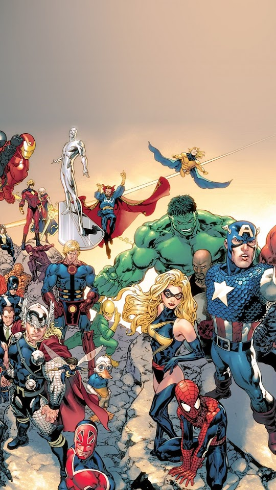 Marvel Comic Book Characters iOS7  Galaxy Note HD Wallpaper