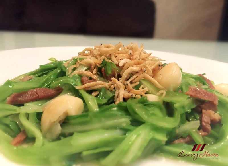 green dragon vegetables with jin hua ham recipe