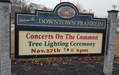Santa arrives on the Town Common at 4:00 PM on Sunday, Nov 27