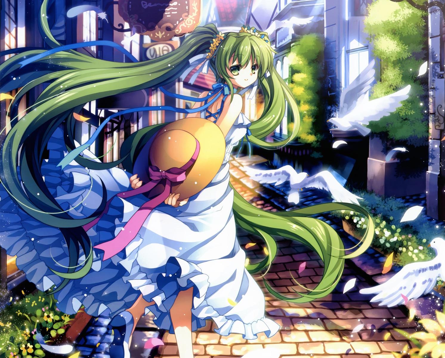 Adorable Hatsune Miku Anime Vocaloid Wallpaper