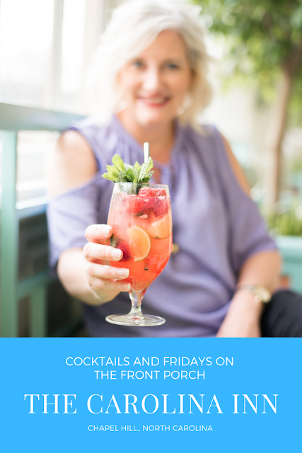 The Carollina Inn in Chapel Hill, NC hosts Fridays on the Front Porch in the Spring and Summer. Craft Cocktails are also a staple at the Inn.