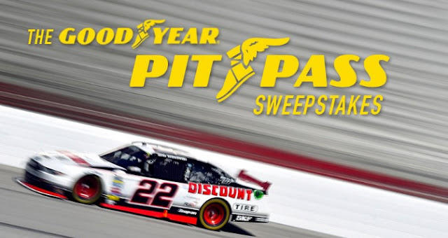 Goodyear, the official tire of NASCAR, wants you to enter to win a VIP Racing Experience at the Charlotte Motor Speedway where you'll have dinner with one and only #22, Brad Keselowski and more!