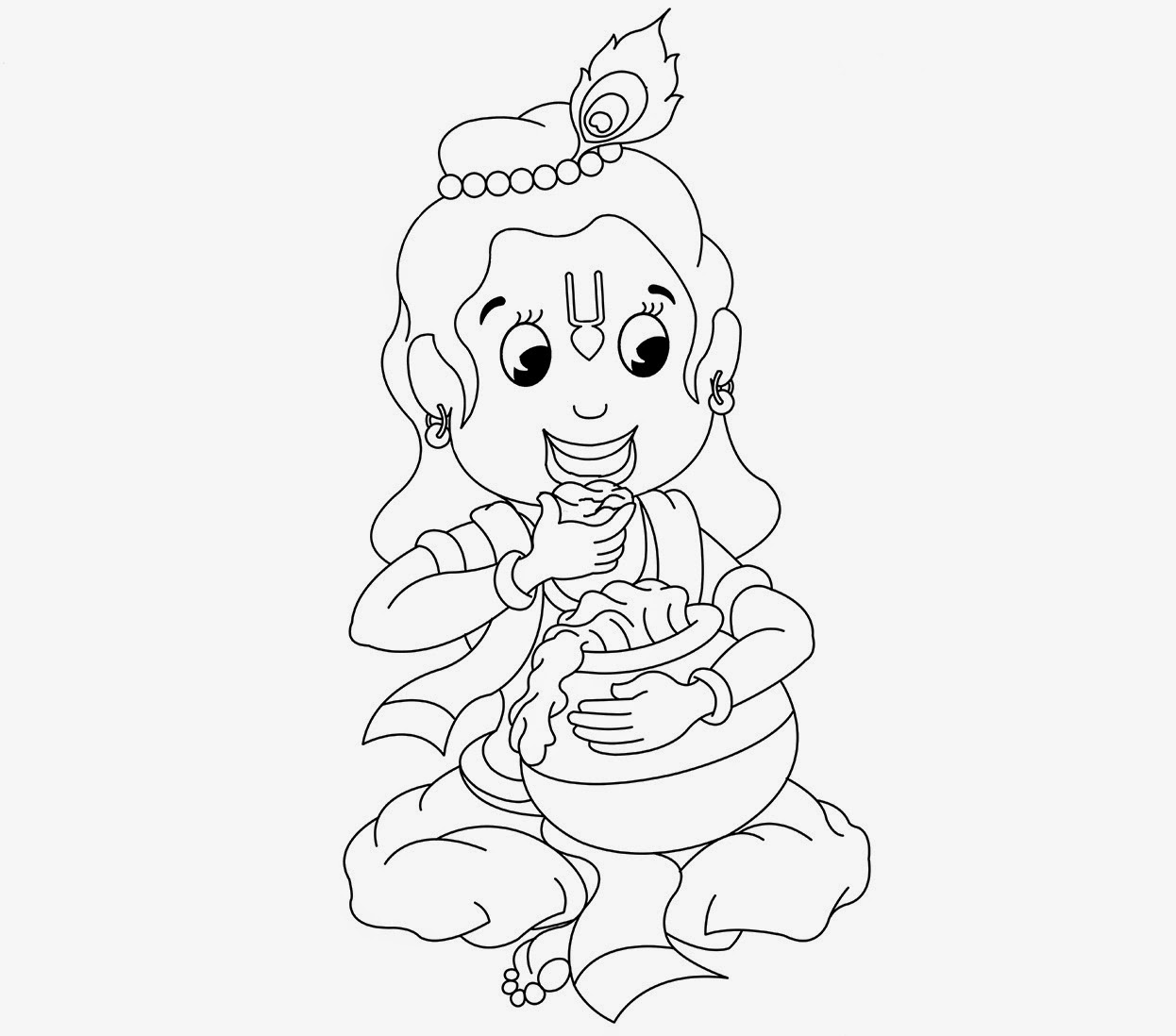 Krishna easy drawing for kids