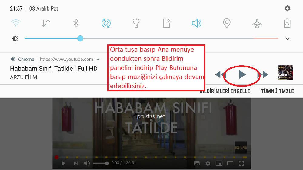 Cep Telefonunda Youtube Arka Planda çalma
