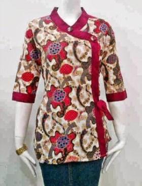 Model Baju Batik Atasan Untuk Wanita