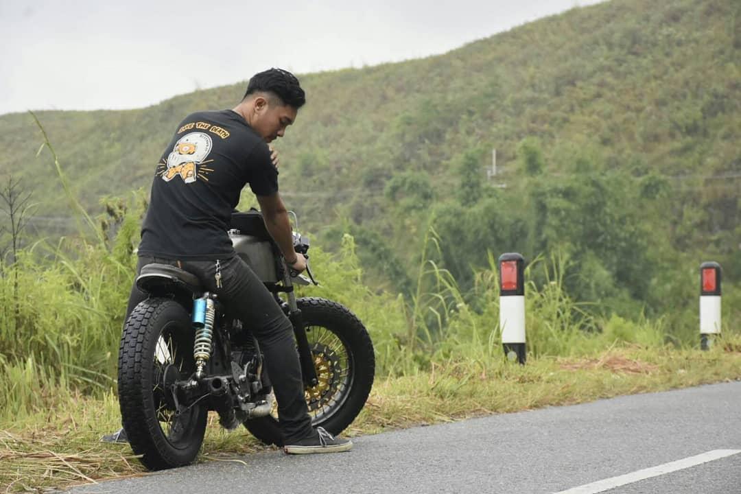 Knalpot Motor Tiger Custom Blar