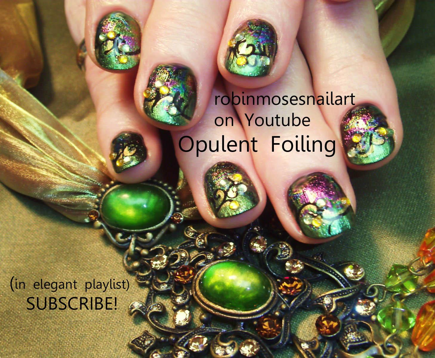 Nail Art by Robin Moses: steampunk nail, neovictorian nail ...