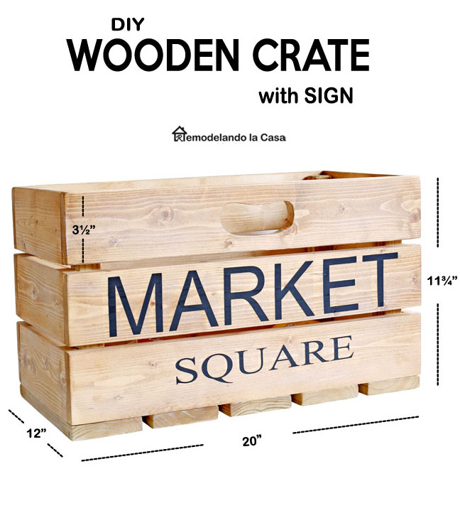 how to build a wooden crate with 1 x 4 pine material