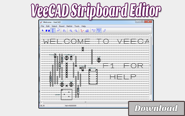 Download VeeCAD Stripboard Editor | Softwares CAD