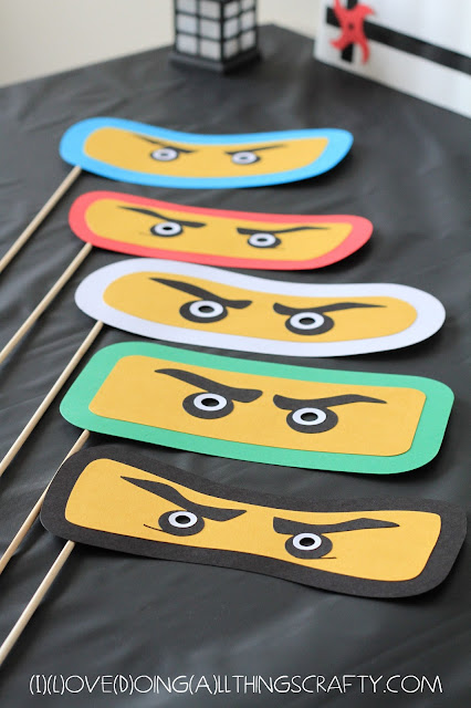 Ninjago Themed Photo Props - Free Silhouette Files
