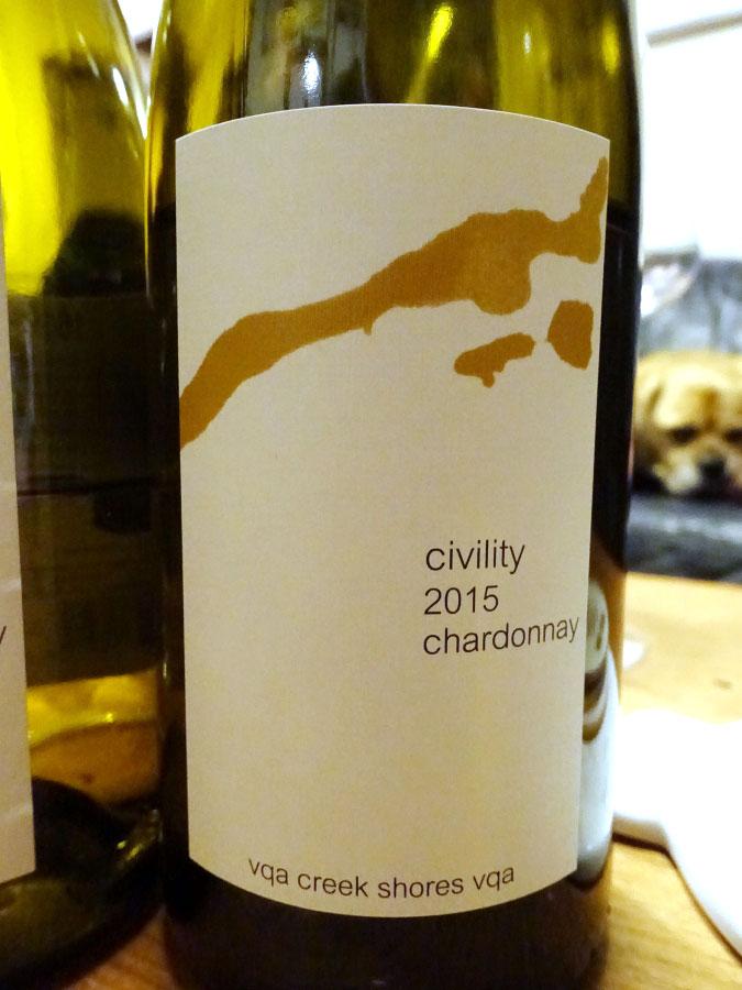 16 Mile Cellar Civility Chardonnay 2015 (89 pts)