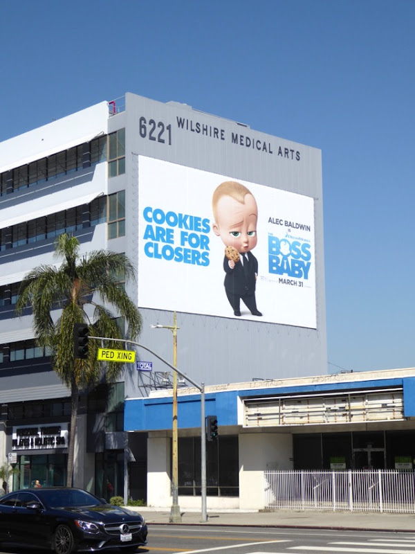 Giant Boss Baby movie billboard