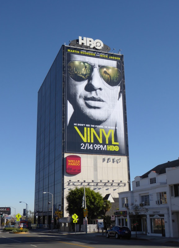 Vinyl series premiere billboard Sunset Strip