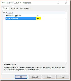 SQL Server - Como ocultar una instancia