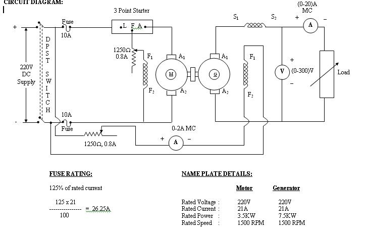 Load Test On Dc Shunt Generator Circuit Diagram - Somurich