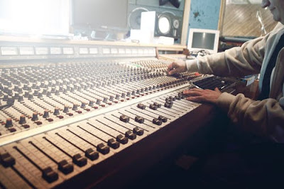 aperson using sound mixer