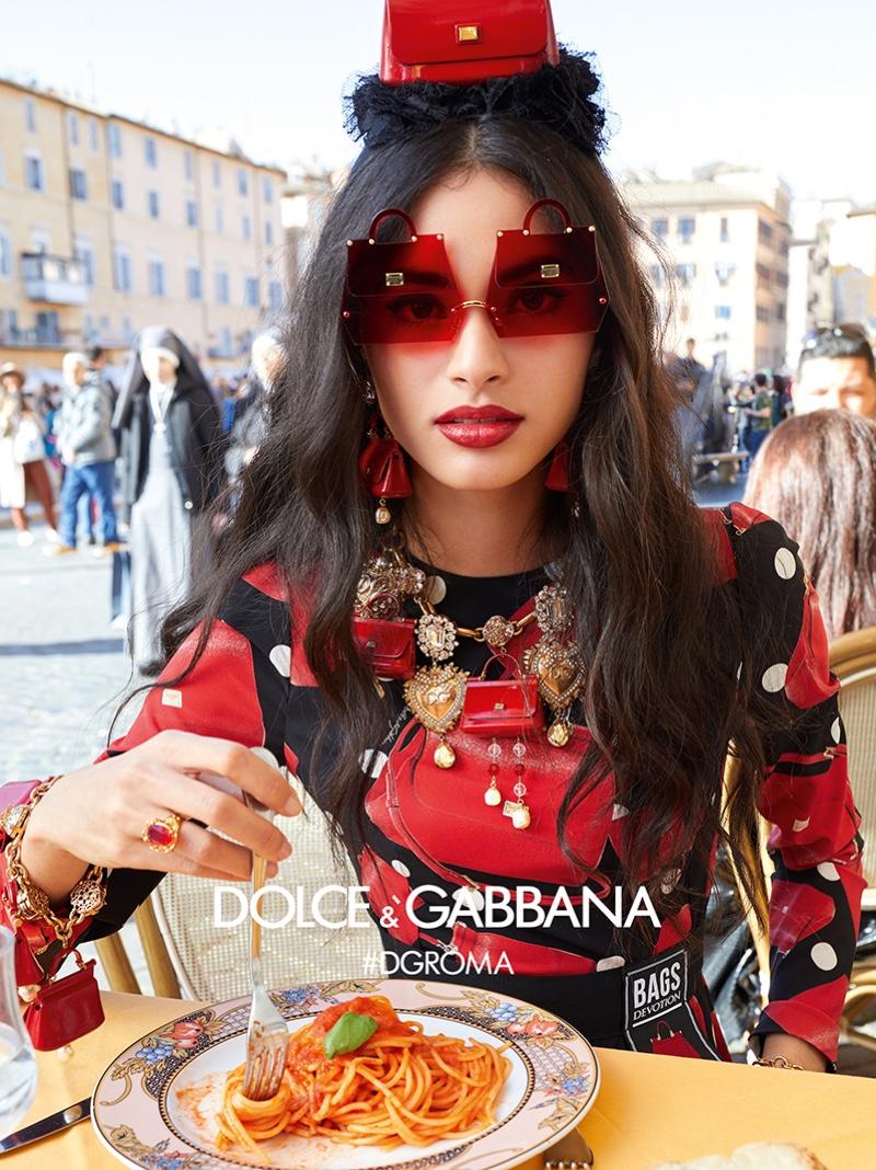 Aira Ferreira fronts Dolce & Gabbana Eyewear fall-winter 2018 campaign