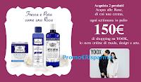 Logo ''Fresca e pura come una rosa'' : vinci subito 13 Gift Card digitali Yoox da 150€ con Acqua Alle Rose