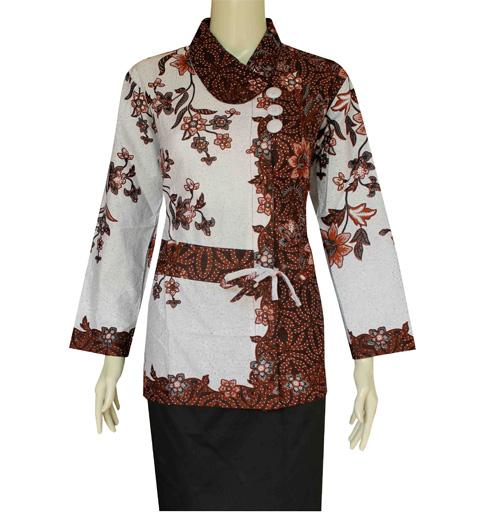 Model Baju Batik Lengan Panjang Modern: Model Baju Batik Kantor Lengan Panjang Terbaru