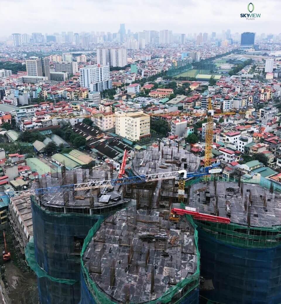 Tiến độ xây dựng chung cư Sky View Plaza mới nhất