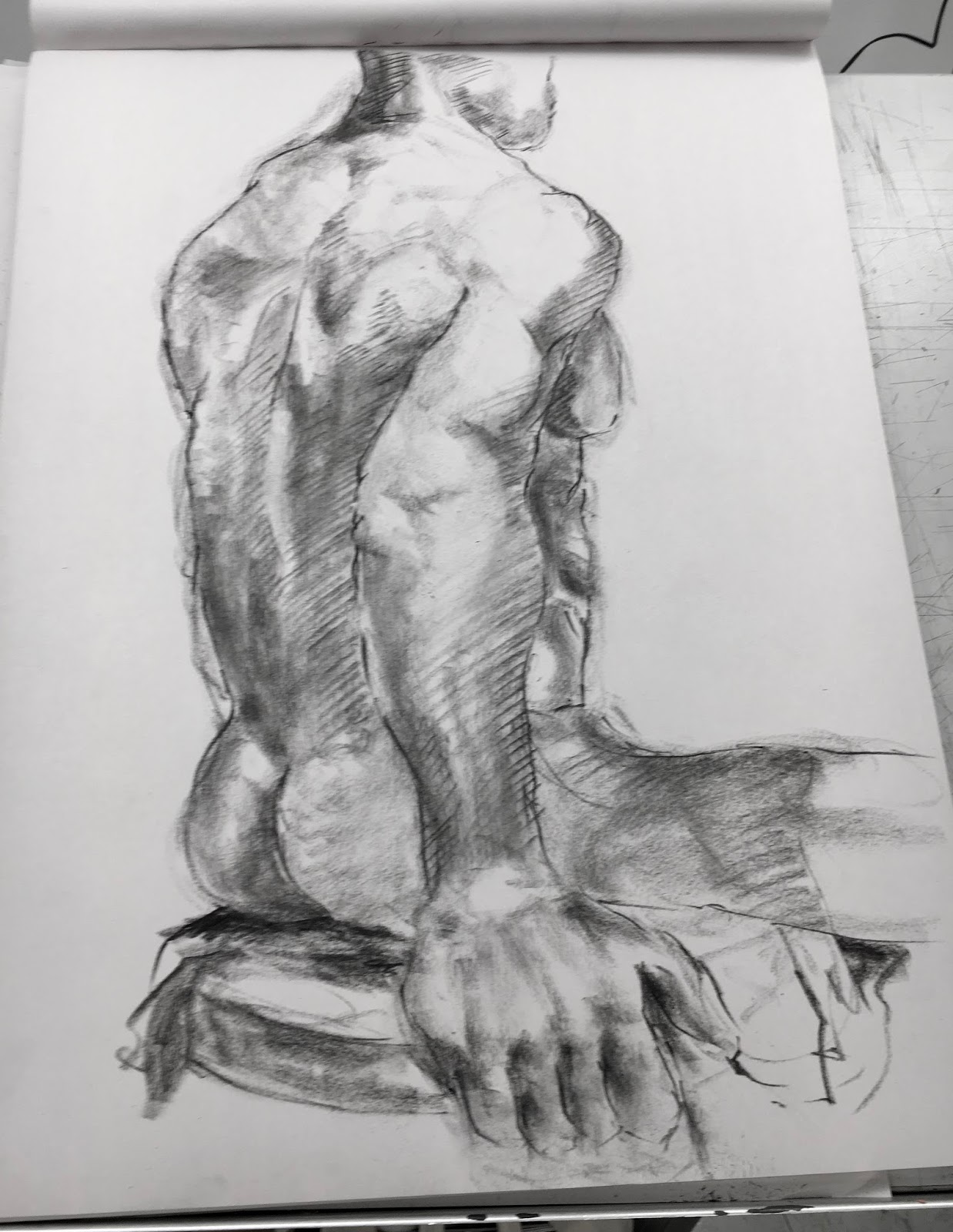 Grace Burney Parsons Anatomy Life Drawing S18