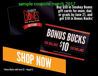 Smokey Bones coupons march 2017