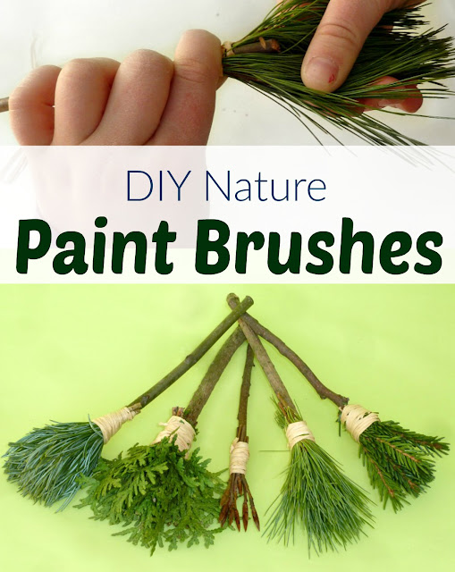making beautiful natural paintbrushes