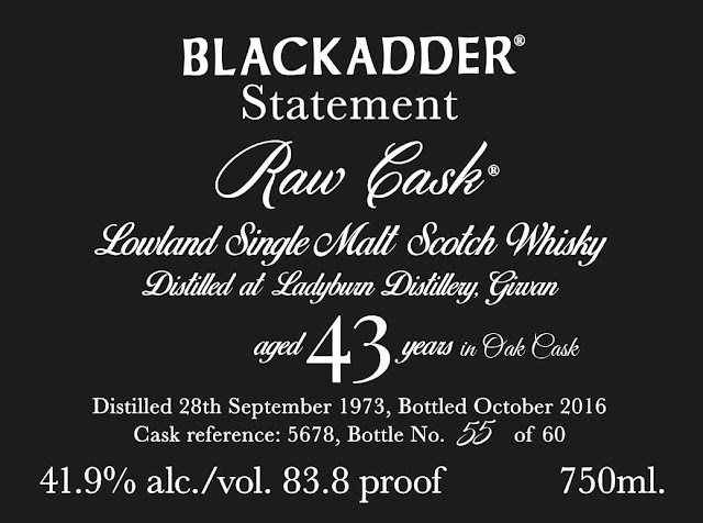 Blackadder Statement Raw Cask 43-Year