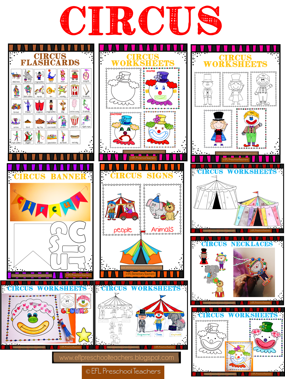Efl Elementary Teachers Circus Unit For The Elementary Ell