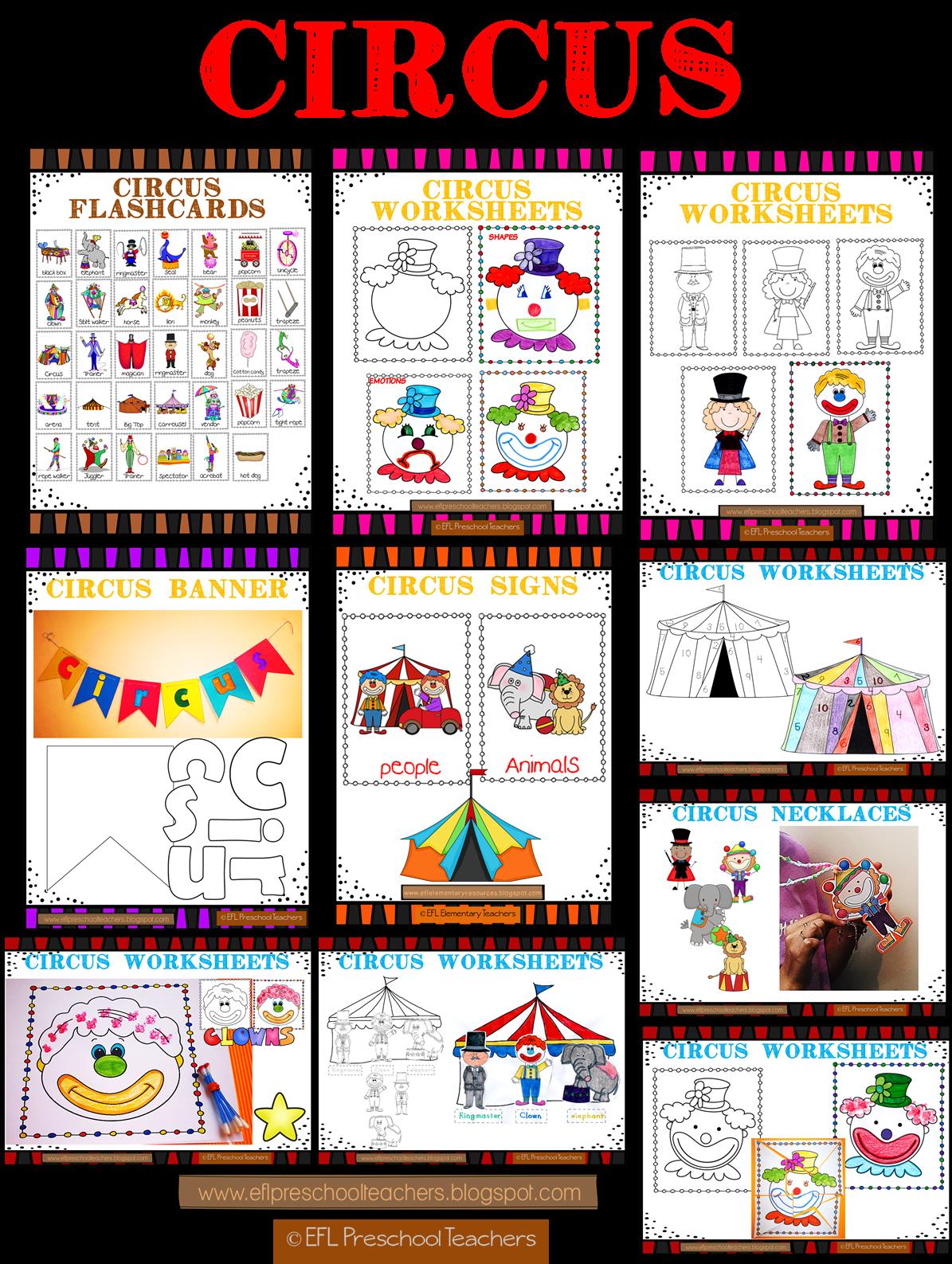 Efl Elementary Teachers Circus Unit For The Elementary Ell