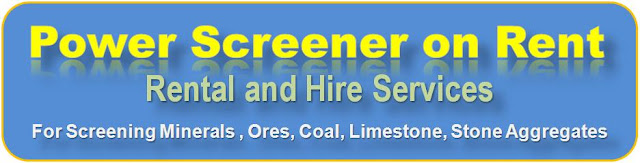 Portable Mobile Screeners available on rent for screening, metal waste, sand, gravel, aggregates, stone quarry dust, minerals, ores, coal screening, iron ore screening, bauxite screening, construction rubble screening, soil screening