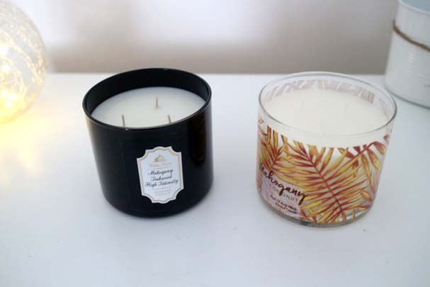 Bath & Body Works - 3 Wick candles - Mahogany
