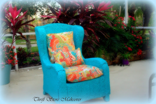 Seagrass Thrift store chair re-do