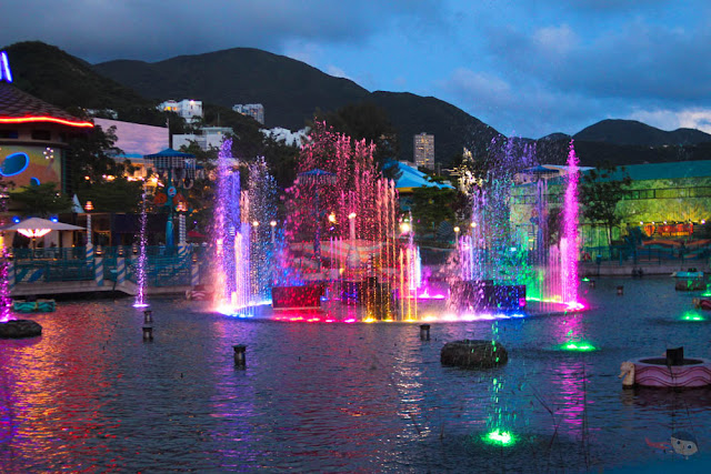 Water fountain in Ocean Park, Hong Kong