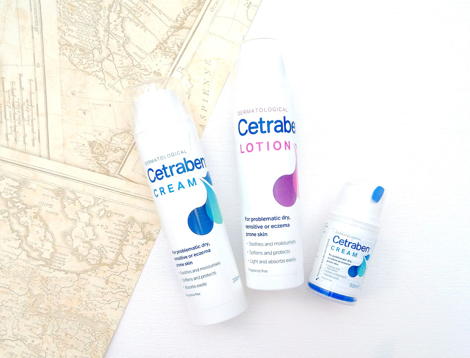 Cetraben Products the lotion and cream for eczema prone skin