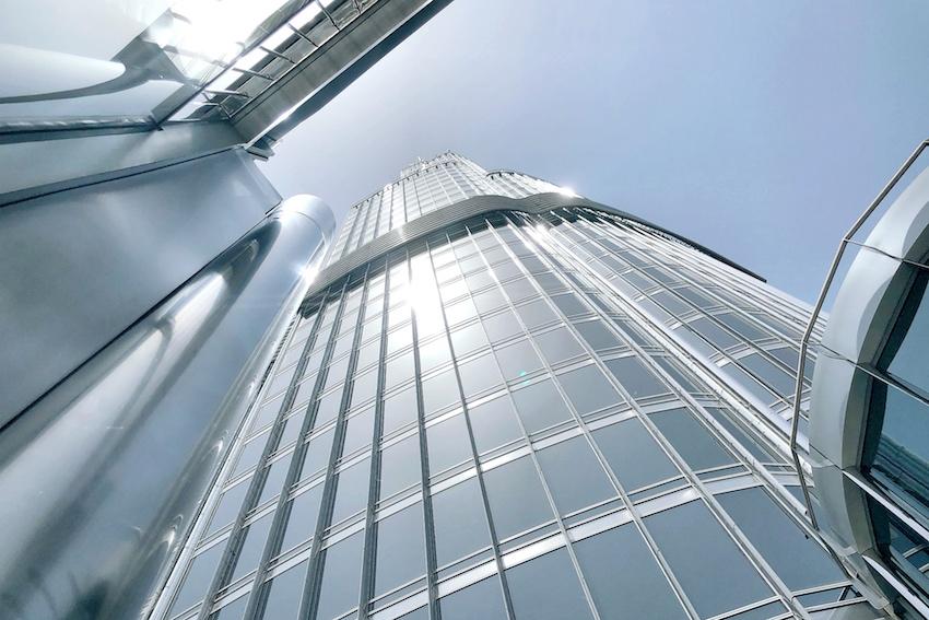 Burj Khalifa von unten