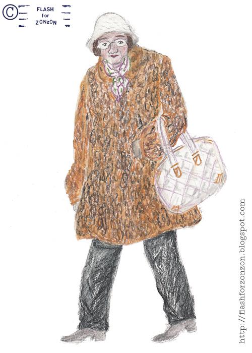 Street Style Helsinki. Granny in Leopard Coat.