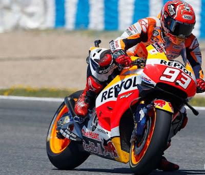 Marquez Tercepat di Sesu 'Adu Kebut' Usai Balapan MotoGP Jerez