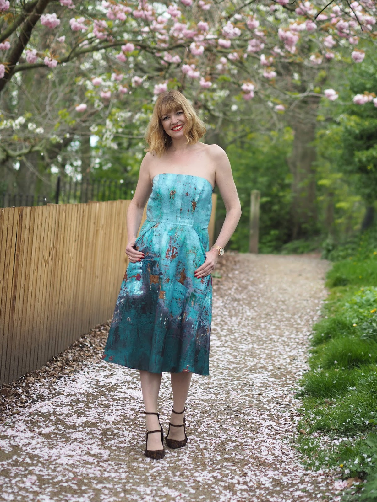 Perfect strapless dress for a spring summer wedding by Alie Street, over 40 fashion