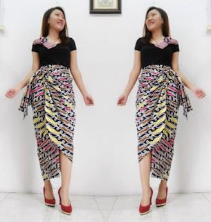 rok batik lilit panjang model terbaru