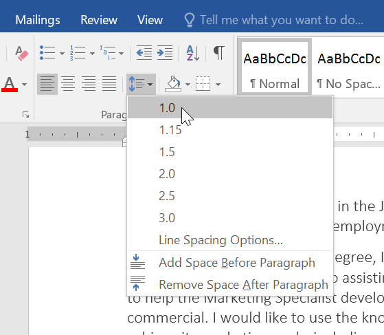 Technology Management Image: Line And Paragraph Spacing
