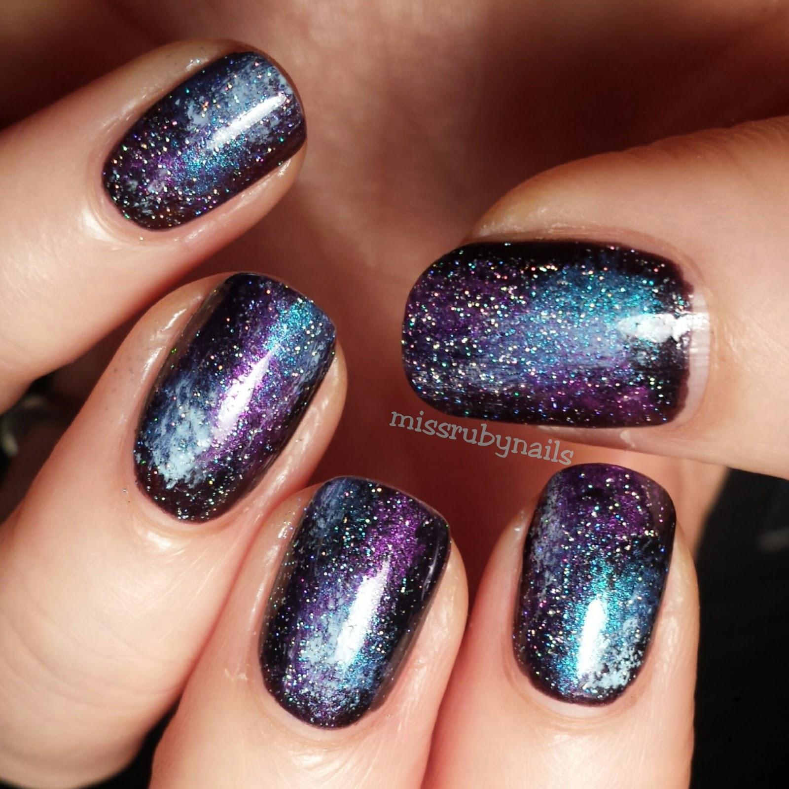 Miss Ruby Nails: Galaxy Nails