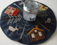 Winter candle mat