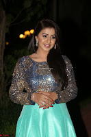 Nikki Galrani in Green Skirt  Top at Marakathamani music launch ~  Exclusive (55).JPG